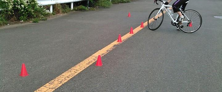 【ロードバイクスクール】 バイクコントロールと体幹,ローラートレーニング。
